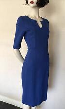 Hobbs Royal Blue,Straight Stretch Dress, size S,UK8/10
