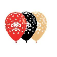 Party Supplies Birthday Boys Pirate Toffee Red Black Balloons Pk10