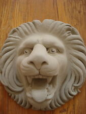 Fassadenstuck - Stuck - Prächtiger Löwenkopf aus Beton d=22 cm Aussenfassade