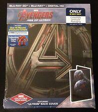 Marvel Avengers AGE OF ULTRON 3D & Blu-Ray SteelBook Best Buy Ultron Ed OOP Rare