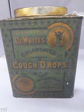VINTAGE DR. WHITE'S COUGH DROP TIN BOX COUNTER STORE DISPLAY ADVERTISING  929-V