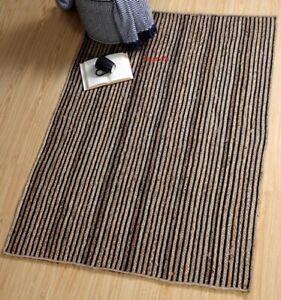 Indisch Teppich 100% Natürliche Jute & Baumwolle Hand Geflochten Art Moderne