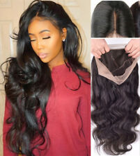 "Glueless Lace Front Full Wig 360g 24"" Women Body Wave Wavy Wig With Baby Hair"