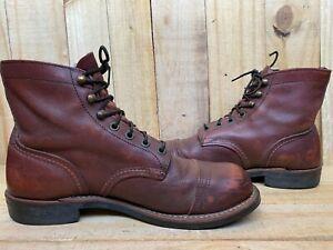 RED WING Heritage 8119 Iron Ranger Boots Oxblood Mesa Sz US 7 D  | UK 6 | EUR 39