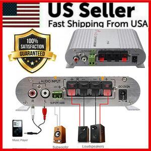 200W Bass Mini Hi-Fi Stereo Audio Amplifier For Car Home Radio MP3 12V 2.1CH
