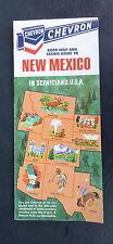 1968 New Mexico road map Chevron gas route 66 Scenicland