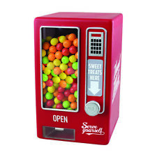 Global Gizmos Red Retro Sweet Candy Vending Machine 508005