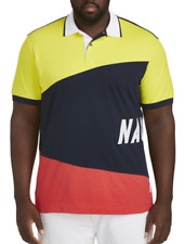 2e11caf6b5c Nautica Colorblock Polo Shirt Size 3xl Colors Blazing Yellow Blue White &  Red