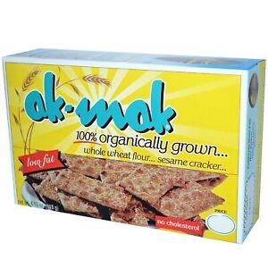 Ak-Mak Sesame Crackers, 4.15 OZ (Pack of 2)