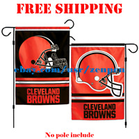 "Cleveland Browns Logo Garden Outdoor Flag Double Sides 12x18"" NFL 2019 Fan NEW"