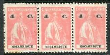 PORTUGUESE MOZAMBIQUE; 1914 early Ceres issue 4c. Mint unused Strip