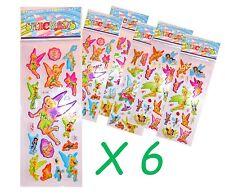 Tinkerbell Fairy Sticker Sheet x 6 Birthday Party Lolly Bag Treat Box Filler