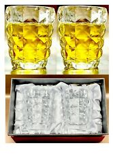 Set of 2 Whiskey Water Drinking Glasses Tumbler Juice Whiskey Glasses Gift Boxed