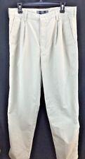 MENS NIKE GOLF CASUAL DRESS SLACKS SIZE 34 X 34 KHAKI NEW WITH TAGS 100% COTTON
