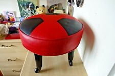 REDUCED!  Vintage Retro 1950s 60s Movable Footstool  Industrial Man Cave Prop