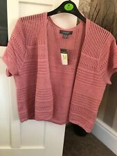 Primark Ladies Pink Cardigan/shrug Size M(12-14) Bnwt