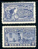 USAstamps Unused FVF US Special Delivery Scott E11-E12 OG MHR
