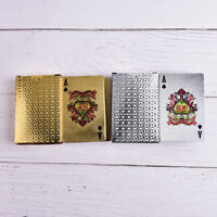 Waterproof Silver 3D Embossing Poker Cards Advanced Plastic Playing Card JD L xd