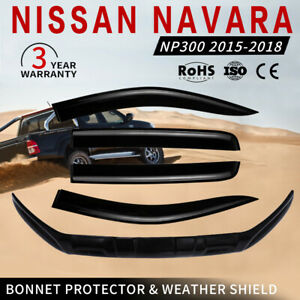 Bonnet Protector &Weather Shield For NISSAN NAVARA NP300 D23 2015-2018 Durable