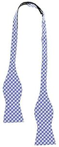Tommy Hilfiger Mens Blue Silk Classic Houndstooth Bow Tie 140175