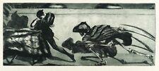 ALOIS KOLB - VOLLMOND (LIEBESPAAR UND TOD) - Radierung & Crayon 1913