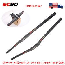 EC90 31.8mm Handlebar 6°90mm Bar Stem Carbon Fiber MTB Bike Riser/Flat Bar 1PC