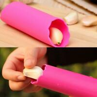 Silicone Garlic Cloves Peeler Skin Remover Press Roller sell Kitchen I3V5