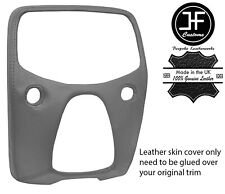 GREY TOP GRAIN LEATHER CENTRE DASH TRIM COVER FOR TOYOTA AYGO 2014-2019