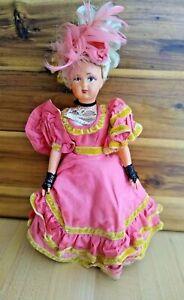 "Boudoir Doll Celluloid SNF 7 France Jointed 9"" Societe Nobel Francaise Vintage"