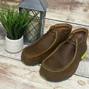 New Twisted X Men's Steel Toe Driving Moccasins MDMST02 Brown Leather 11 M