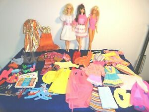 VINTAGE BARBIE TNT LOT WALKING JAMIE, TNT BARBIE, MALIBU, CLOTHES SHOES ACCES.