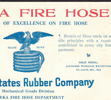 Eagle Fire Hose Eureka United States Rubber Co Philadelphia Business Trade Card