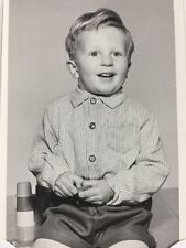 Vintage BW Real Photo #BB: Norwich: Boy David BARTON 1962: Toy Car Stacking Cups