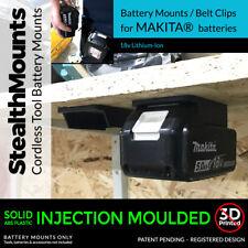 15x BATTERY Mounts MAKITA 18v Holder for Shelf Rack Stand Holder Slots Van Case
