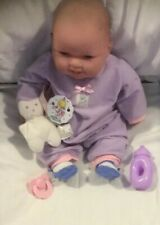 """Adorable Jc Toys Berenguer 12"""" Pink Soft Body Baby Doll With Extras."""