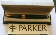Vintage PARKER 17 SUPER DUOFOLD Dark Blue Navy  FOUNTAIN PEN Boxed