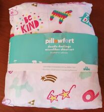 Target Pillowfort Doodle Twin Sheet Set Bedding New - Package A Bit Beat Up