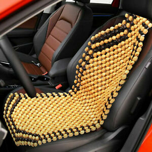 Wooden Car Van Taxi Front Bead Beaded Massage Seat Cover Cushion Office UK