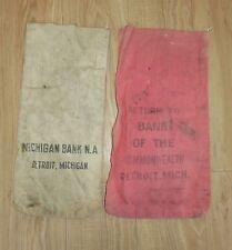 VINTAGE Detroit Michigan Bank Money Deposit bags