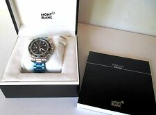 MONTBLANC SPORT XL CHRONO AUTOMATIC WATCH BLACK DIAL SWISS MADE 3273 NEW IN BOX
