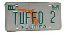 Florida Vanity License Plate TUFFO 2- Single Plate