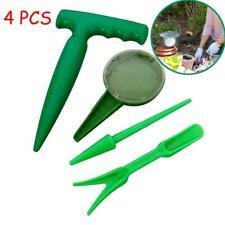 4Pcs Widger Transplanter Seed Sower Garden Tools Set Dibber Dig Hole Home Use