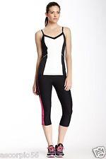 Marika Tek Cool Vision Capri Legging Performance Large Color: Black/Fuchsia $52
