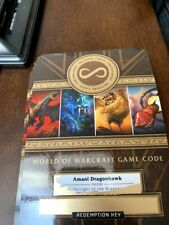 World of Warcraft Amani Dragonhawk Mount Loot Card Unscratched (Blizzcon 2019)
