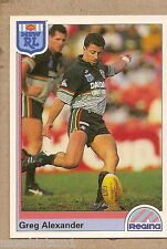 1992  RUGBY LEAGUE CARD #33  GREG ALEXANDER, PENRITH PANTHERS