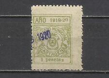 8118-SELLO FISCAL LOCAL CARTAGENA MURCIA AÑO 1919-1920 IMPUESTO MUNICIPAL 1 ptas