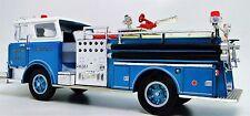 1 Vintage 1970 Fire Engine Truck A  T Metal Model 24 Antique Blue Pickup Car 18