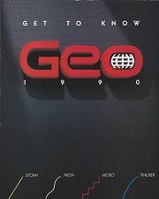 Auto Brochure - Geo - Storm Prizm Metro Tracker - GSi Foldout - 1990 (A1031)