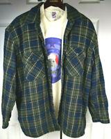 Vtg Fieldmaster Flannel Shirt Jacket XL Sherpa Kurt Cobain Grunge Travis Scott
