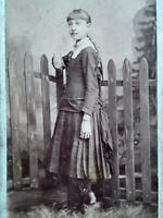 BETHLEHEM PA CDV 1870s Pretty Young Girl PL GROSS Antique Carte De Visite Photo